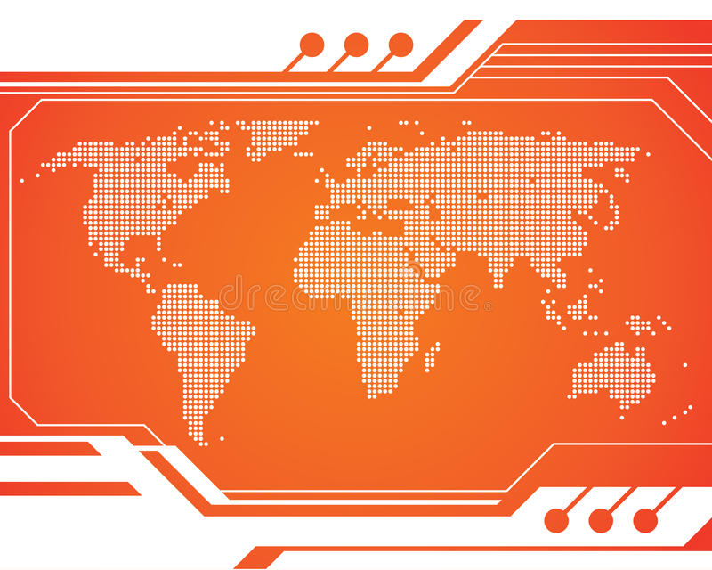 World Technology Map Stock Images