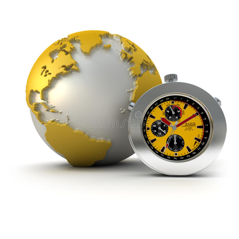 The world on time stock illustration