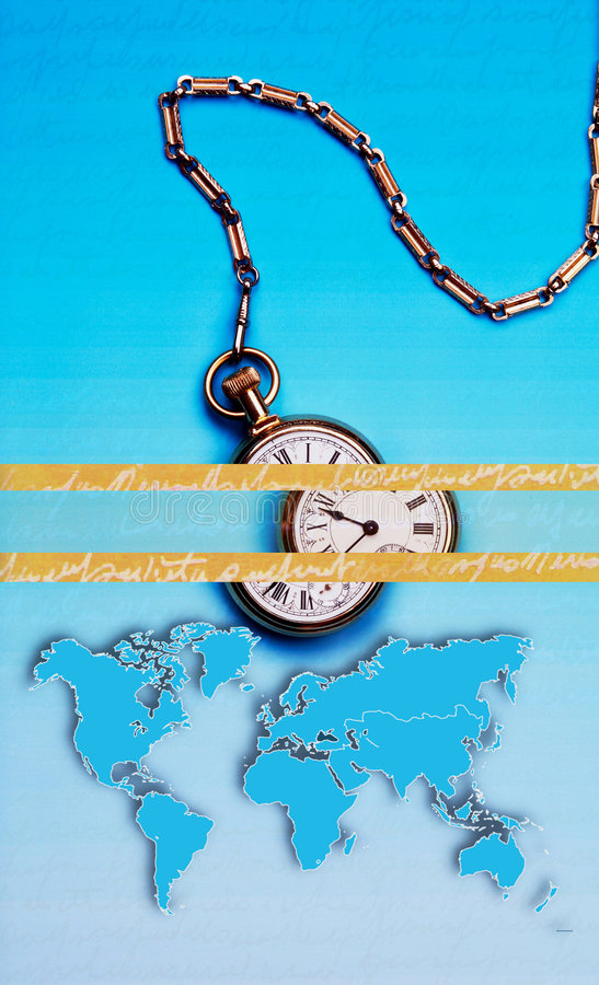 World Time, Abstract Business Art royalty free stock photography