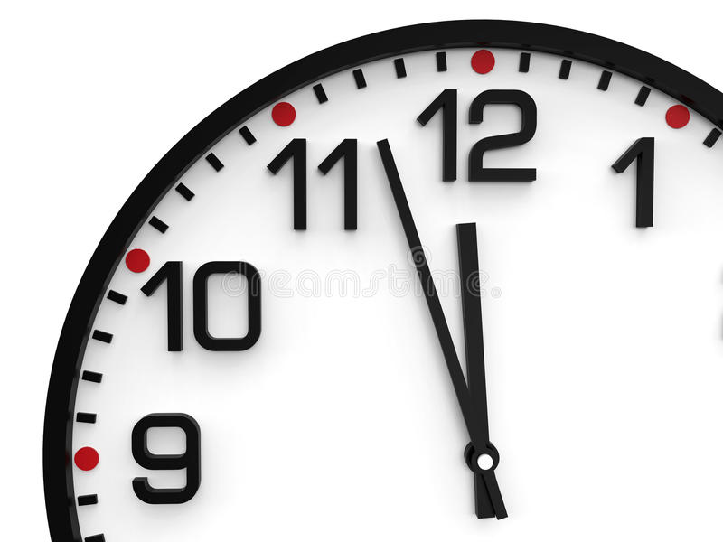 World time doomsday 23.57 hrs. World time doomsday 23.57 hrs stock images