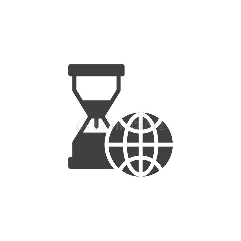 World time vector icon royalty free illustration