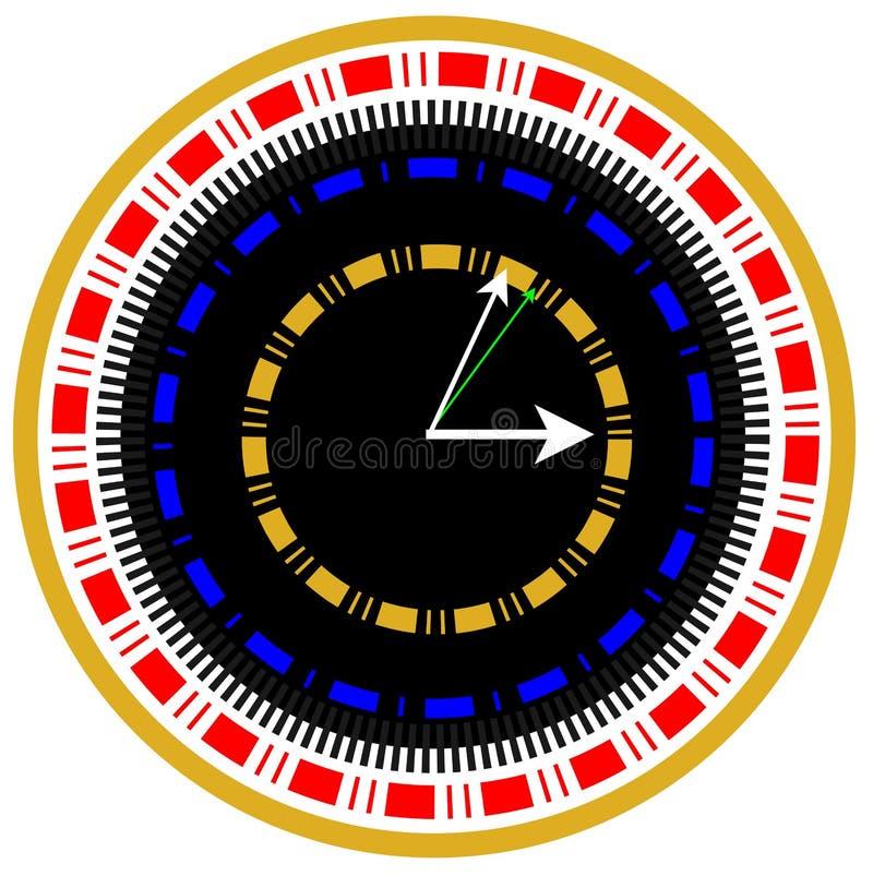 World time watch illustration royalty free stock photo
