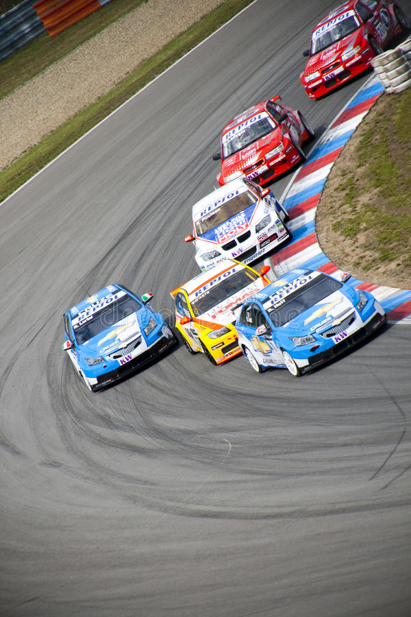 World touring car championship in brno 2009 stock images