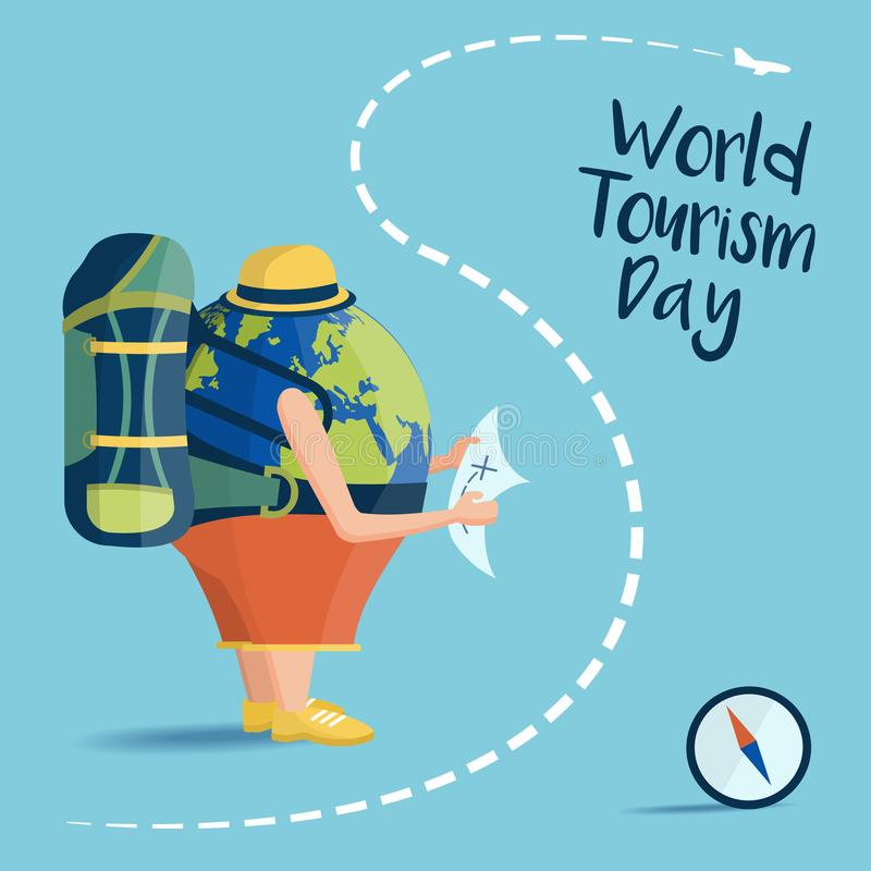 World Tourism Day royalty free illustration