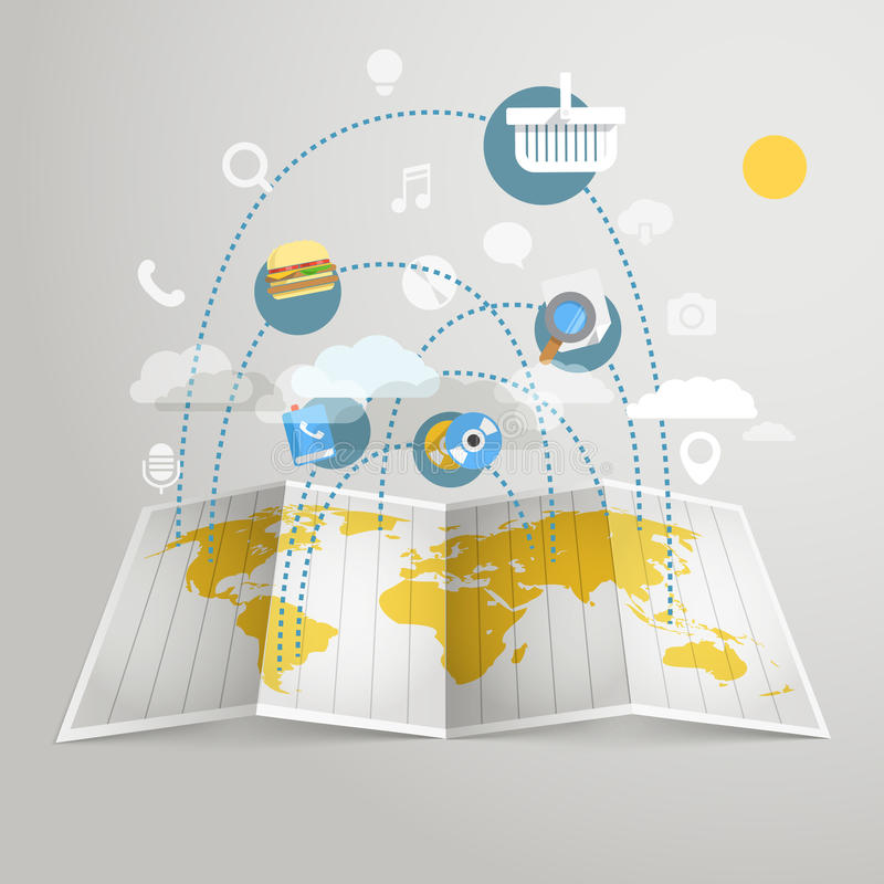World trade abstract scheme. Design elements royalty free illustration