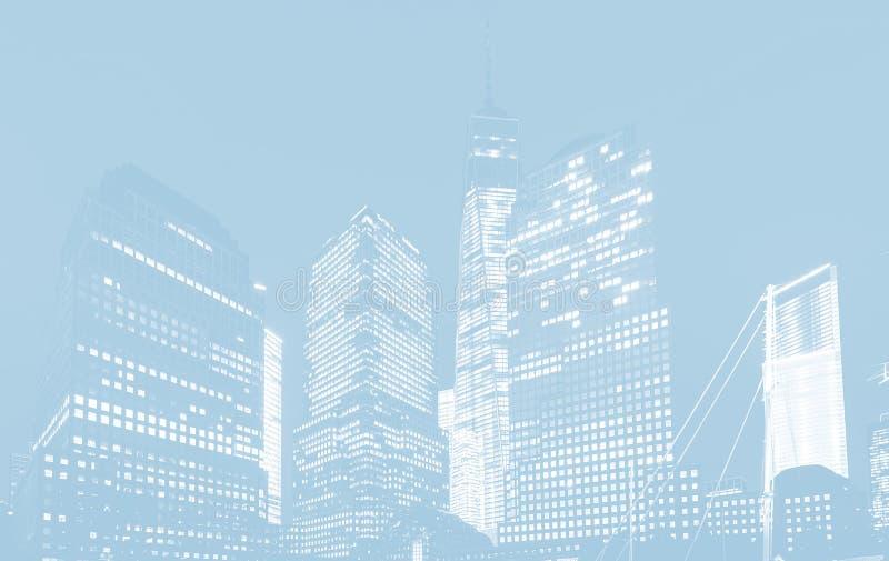 World Trade Center à New York illustration de vecteur