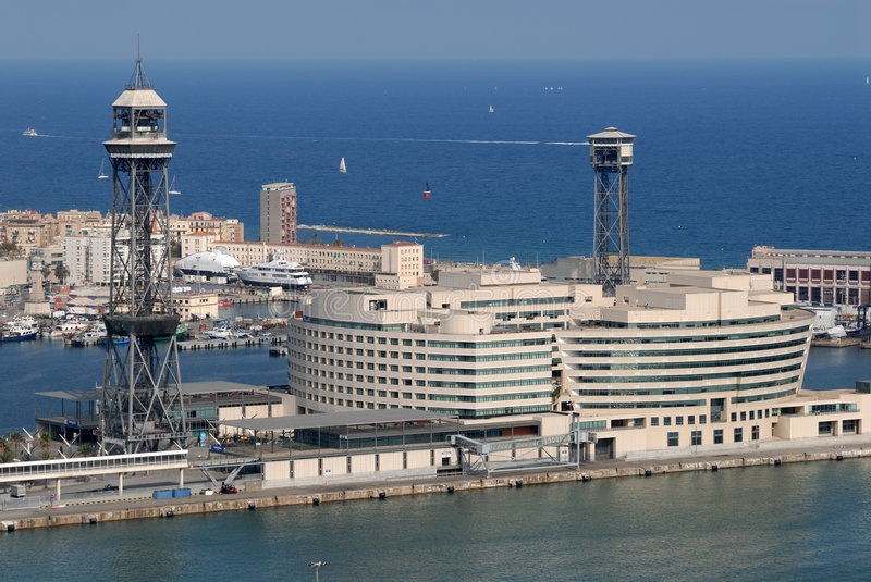 World Trade Center in Barcelona, Spain royalty free stock photography