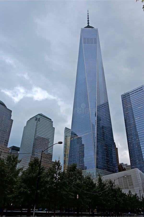 World Trade Center: Bodennullpunkt NYC stockbilder
