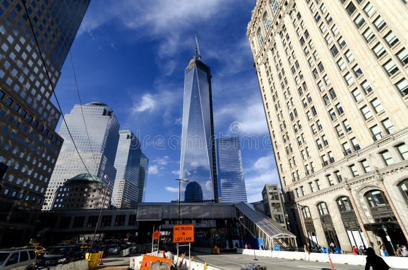 World Trade Center Freedom Tower royaltyfri fotografi