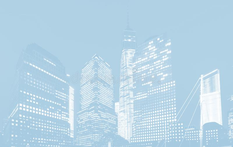 World Trade Center i New York vektor illustrationer