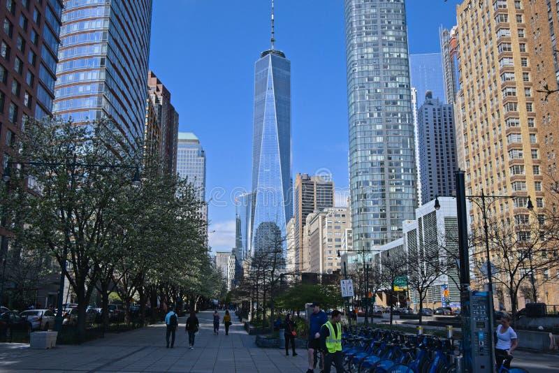 World Trade Center i New York royaltyfria foton