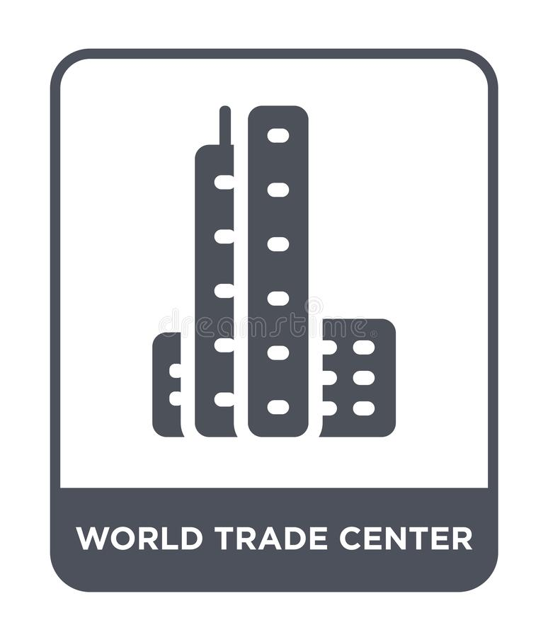 world trade center icon in trendy design style. world trade center icon isolated on white background. world trade center vector stock illustration
