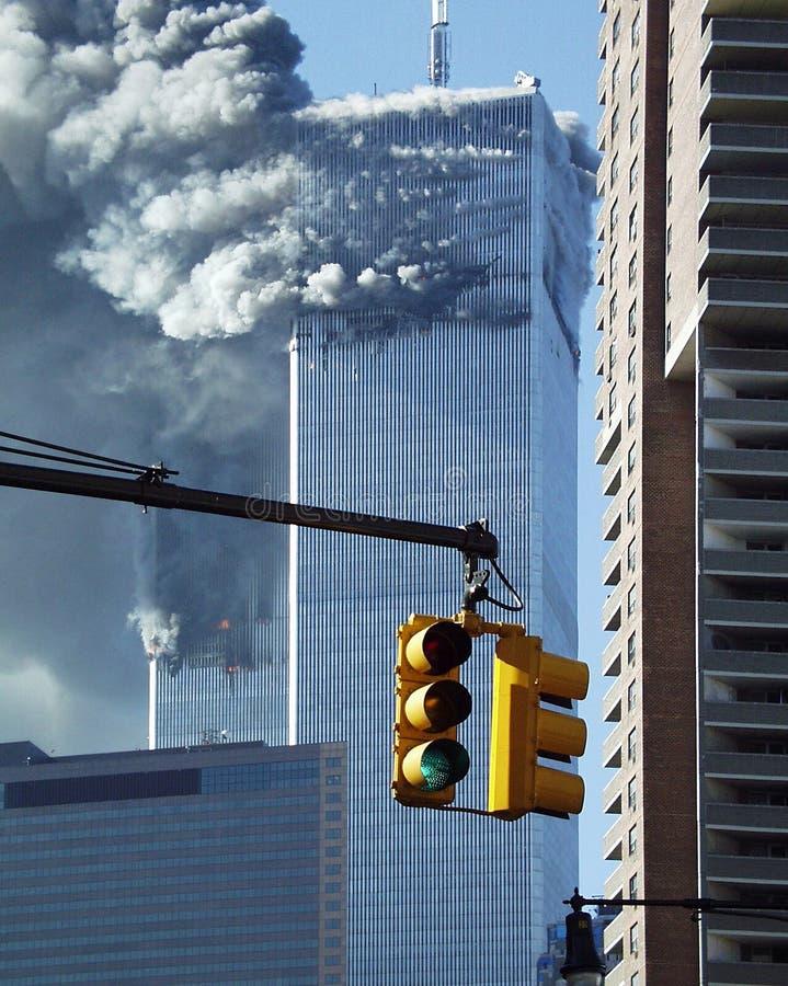 World Trade Center l'11 settembre 2001 _2 immagini stock libere da diritti