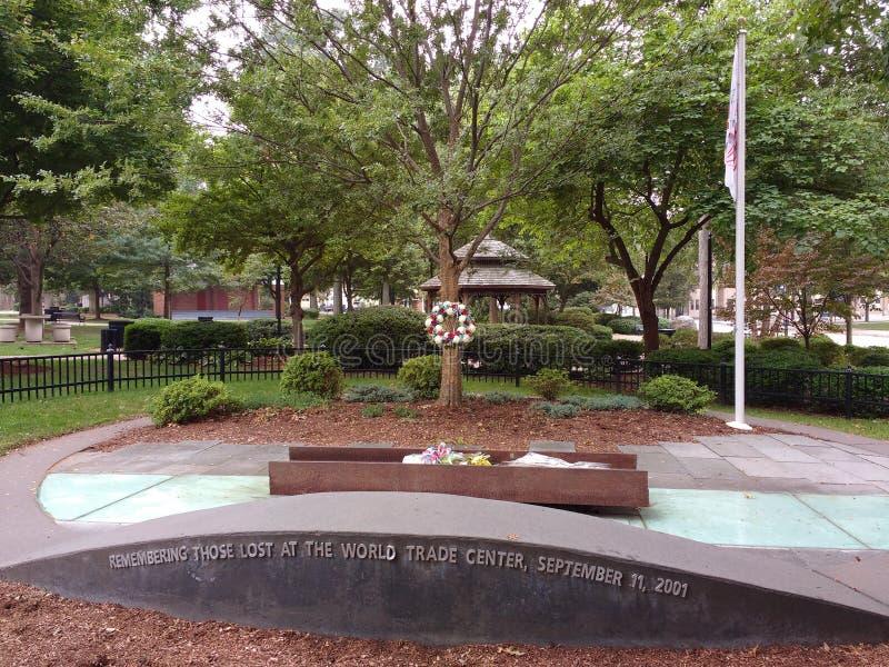 World Trade Center, l'11 settembre 2001, memoriale, Rutherford, NJ, U.S.A. fotografia stock libera da diritti