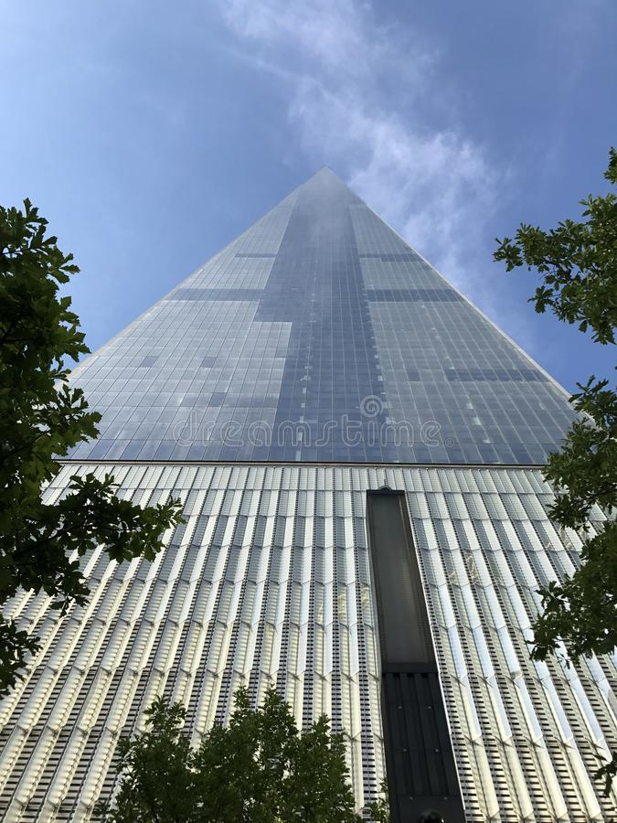 World Trade Center look up royalty free stock photography