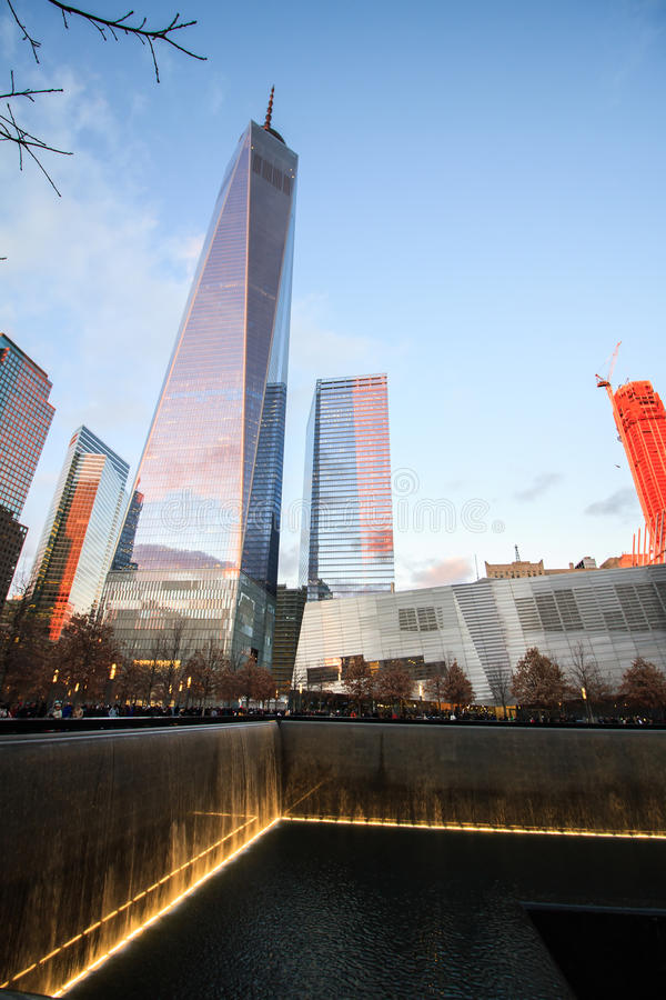 World Trade Center. Memorial in New York royalty free stock image