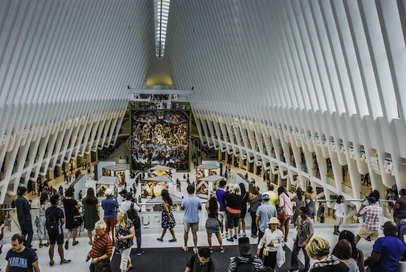 World Trade Center Oculus imagen de archivo
