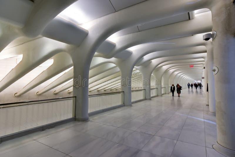 World Trade Center Oculus - New York City fotografering för bildbyråer
