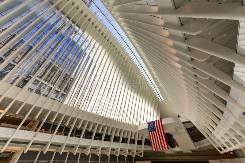 World Trade Center Oculus - New York City arkivbild