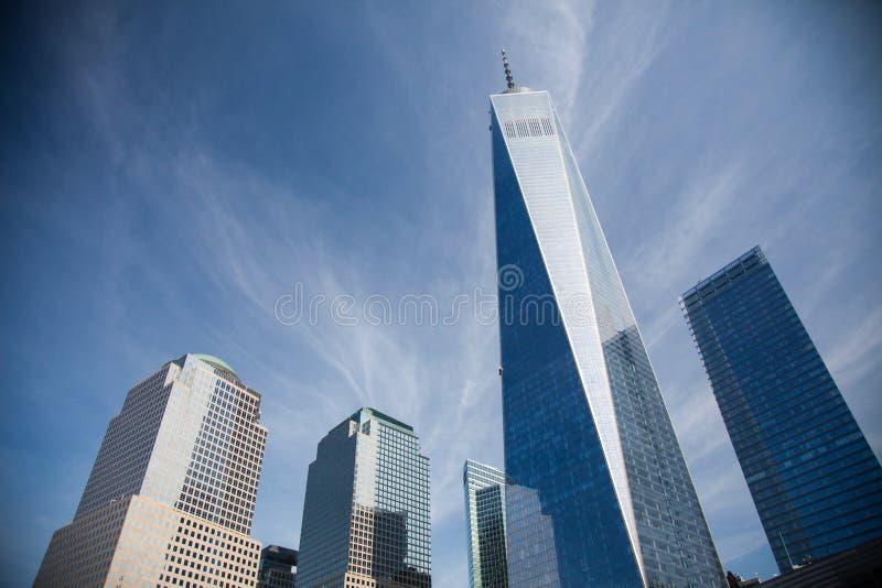 World Trade Center. One in downtown Manhattan New York stock photo