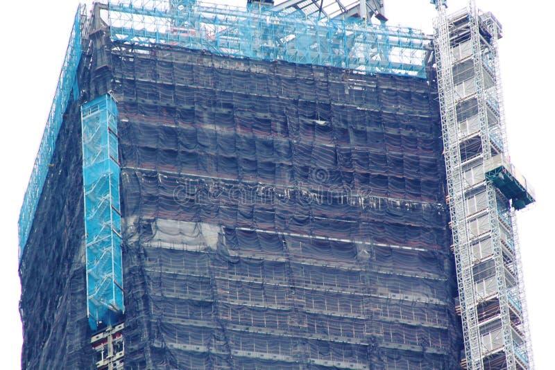World Trade Center Opinión del primer del edificio inacabado fotografía de archivo libre de regalías