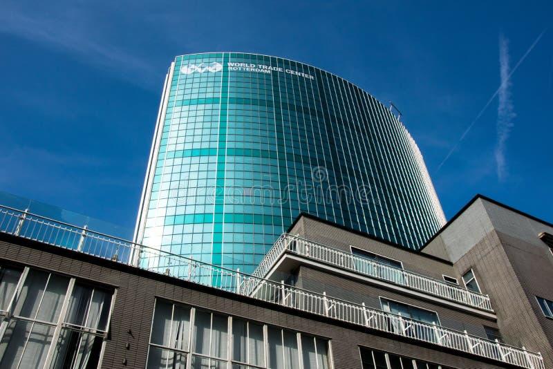 World Trade Center Rotterdam royaltyfri foto