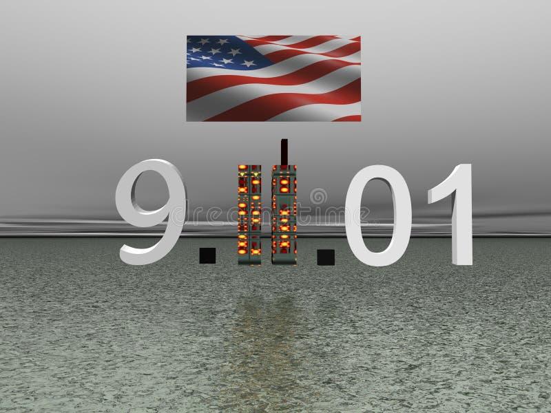 World Trade Center 11 septembre illustration stock