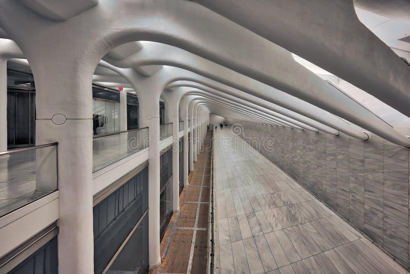 World Trade Center-Transport-Nabe stockfotos