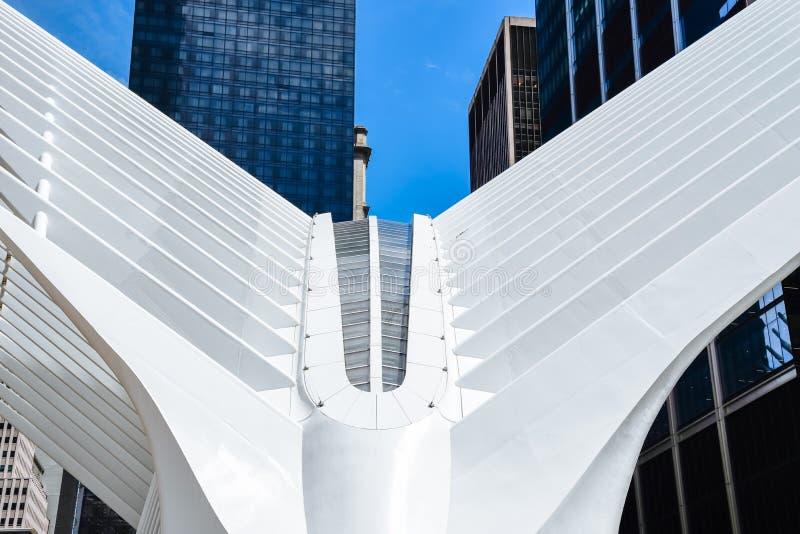 World Trade Center-Transport Nabe oder Oculus in New York stockbild