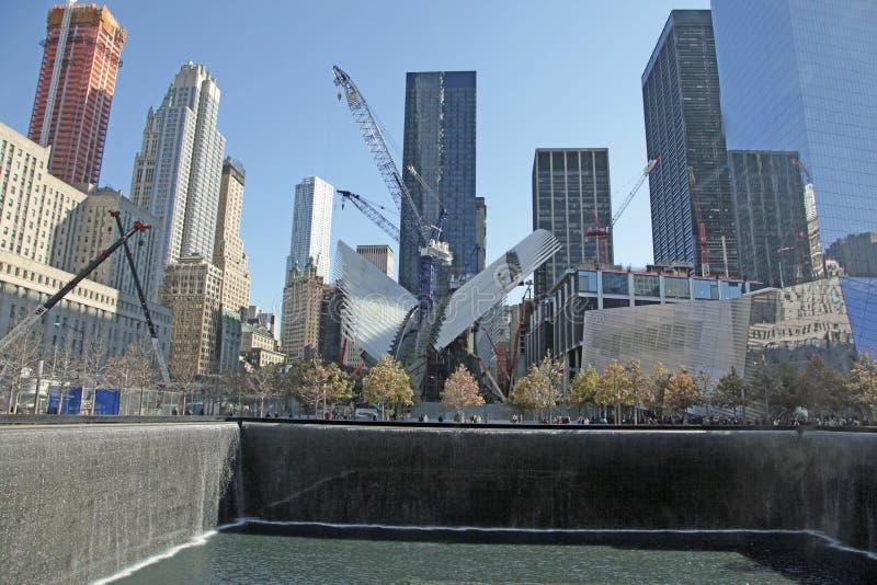 World Trade Center, WTC, punkt zerowy wybuchu, Miasto Nowy Jork zdjęcia royalty free
