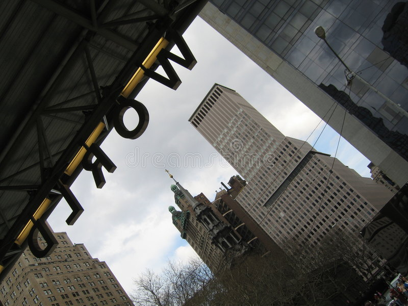 World Trade Centerzeichen lizenzfreie stockfotos