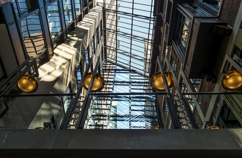 Glass arch roof royalty free stock photos