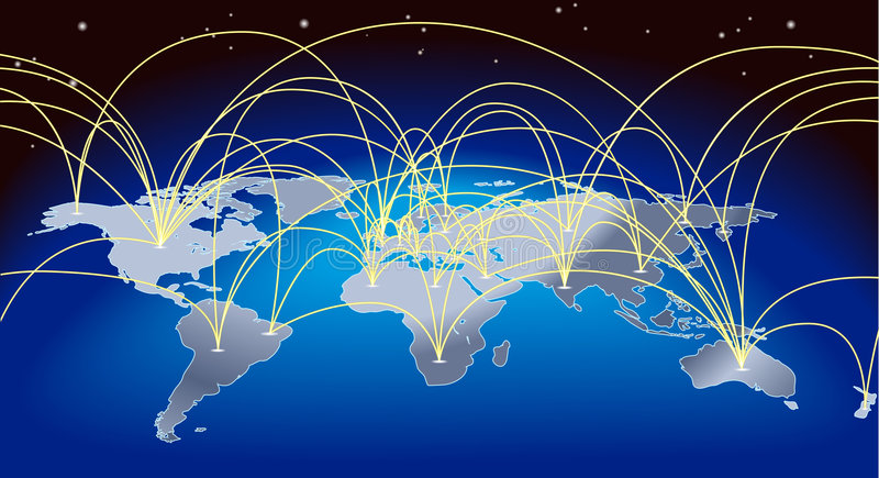 World trade map background royalty free illustration