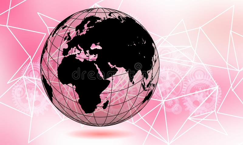 Abstract technology background Hi-tech communication concept innovation background. vector digital global technology concept. World transparent globe earth vector illustration