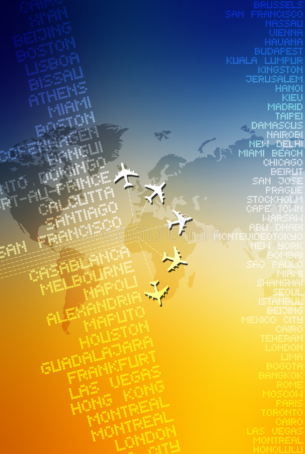 World Travel 04. Computer illustration depicting world travel stock illustration