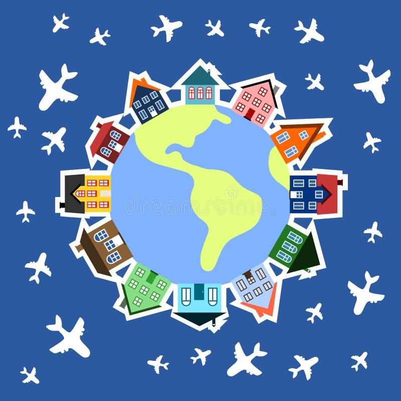World Travel stock de ilustración