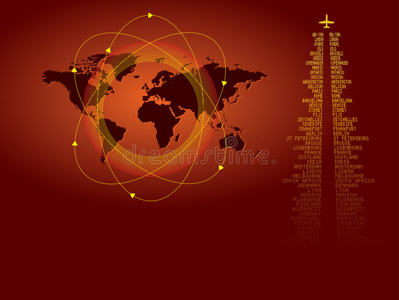 World travel background royalty free illustration