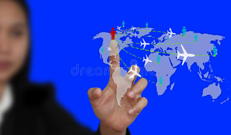 World Travel Business Royalty Free Stock Photography