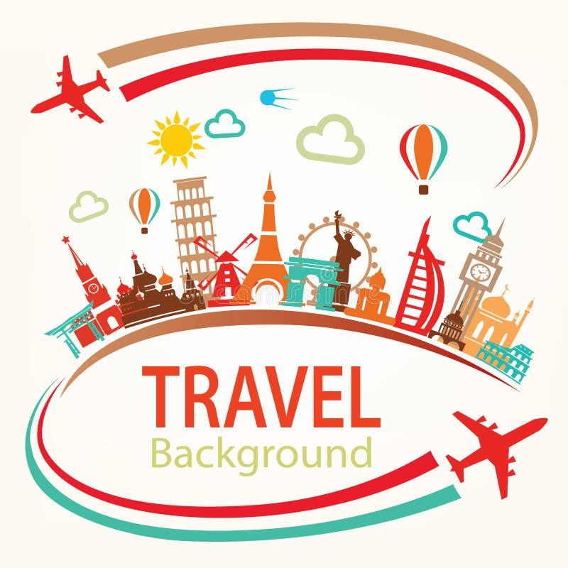 World Travel, iconos de las siluetas de las señales fijados libre illustration