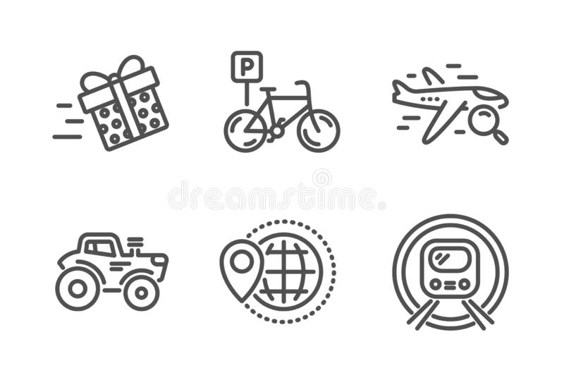world travel icon  trip globe sign  vector stock vector