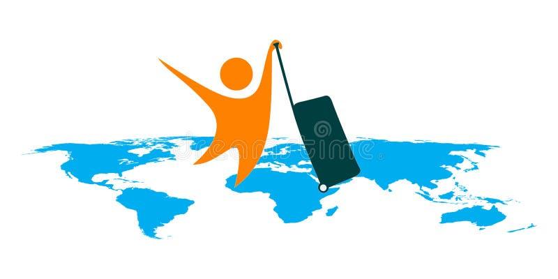 World traveler. Illustration of world traveler design isolated on white background vector illustration