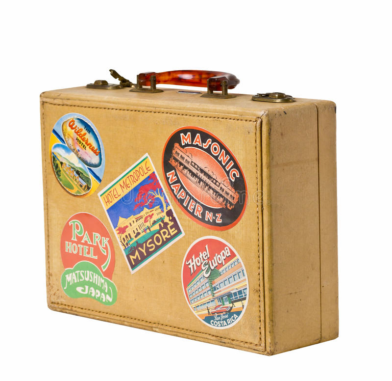 Download World Traveler - A Retro Vintage Suitcase Editorial Stock Photo - Image: 24042438