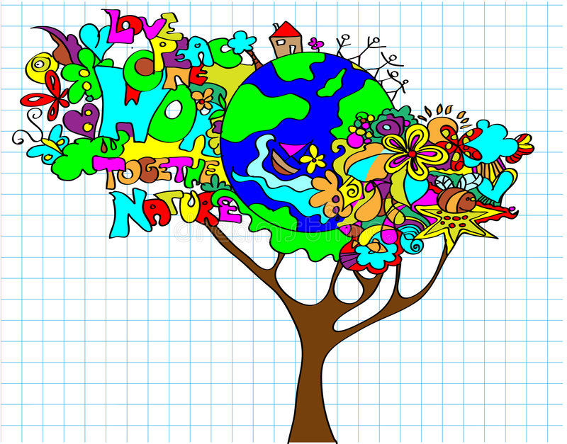 Download World tree stock vector. Illustration of conservation - 9196099