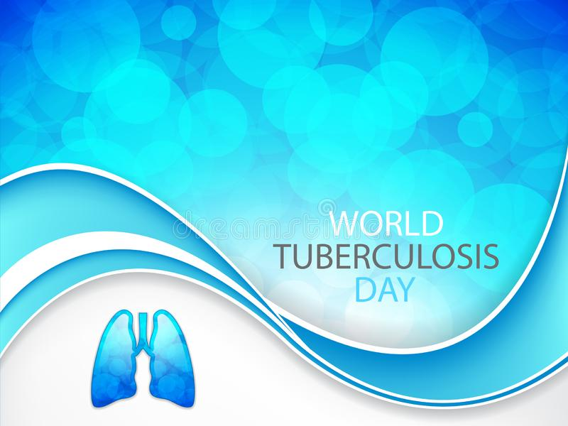 World tuberculosis day royalty free illustration