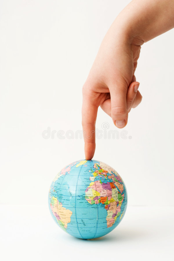World under pressure. stock images