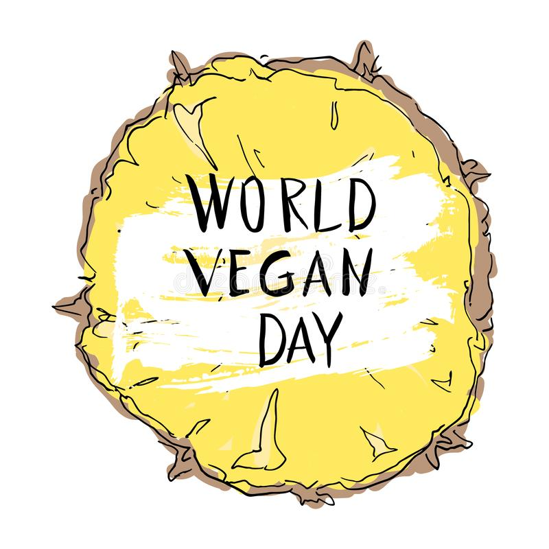World Vegan Day Concept royalty free illustration