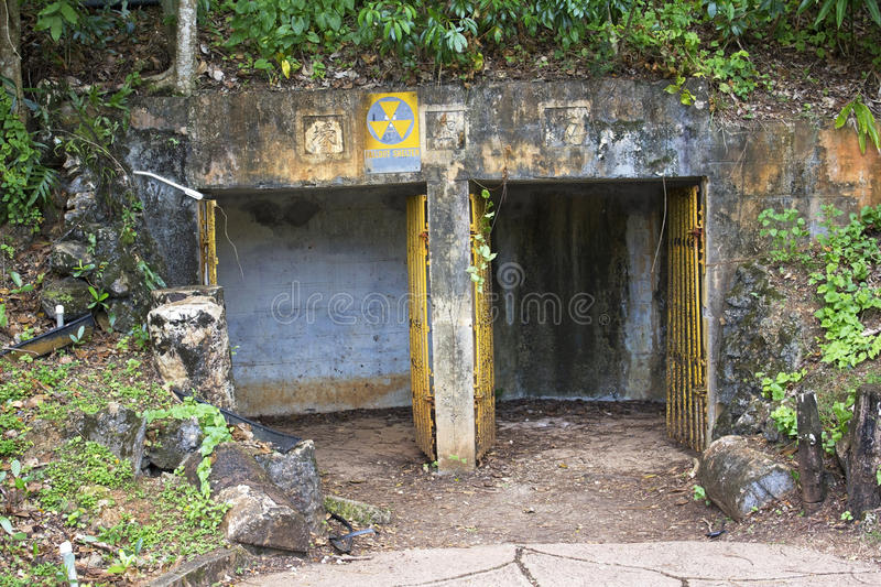 Guam World War 2 Shelters. World War 2 shelters in the pacific island of Guam stock image