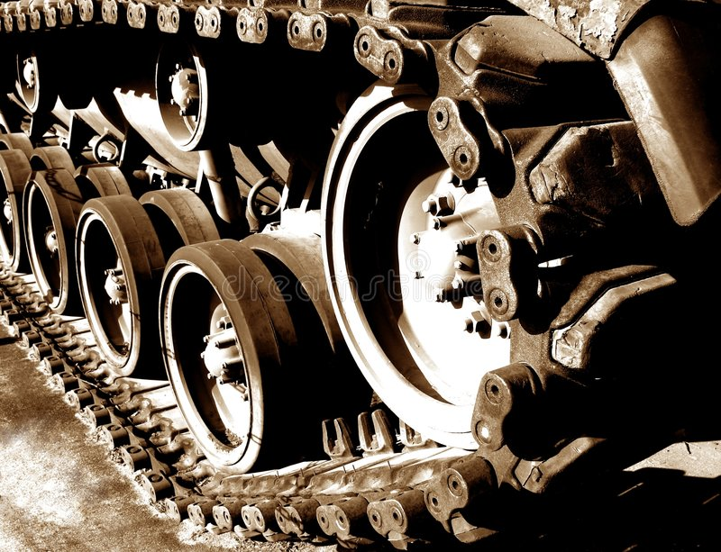 Download Tank Tracks And Drive Sprocket Wheel Stock Photo - Image: 1624692