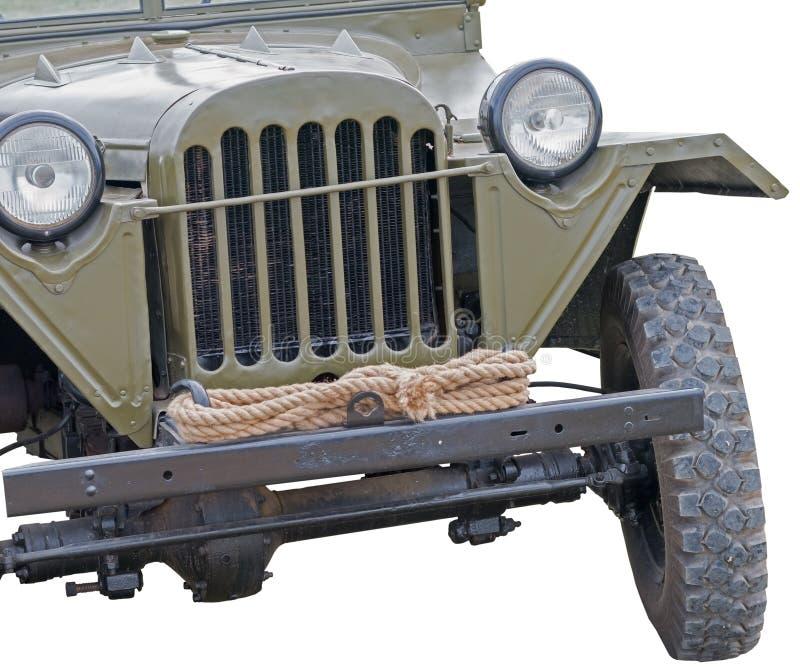 World war 2 era army jeep on white. Background royalty free stock image