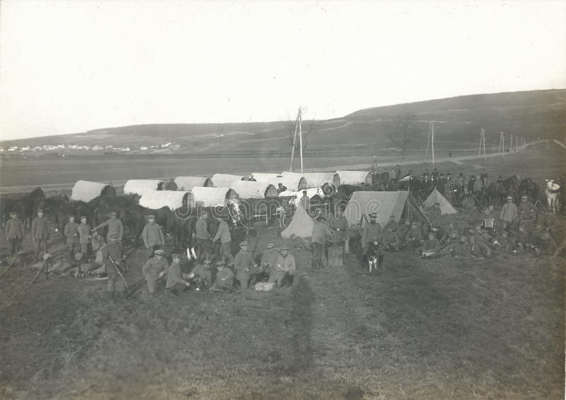 World War I. / great war German soldier`s camp - Eastern front stock images